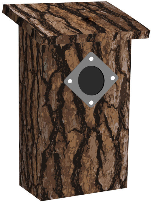 dark bark pop up bird house